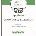 TripAdvisor Certificate of Excellence 2015 Enlish language